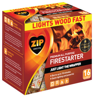 Zip All Purpose Firestarter Cubes 12ea/16 ct