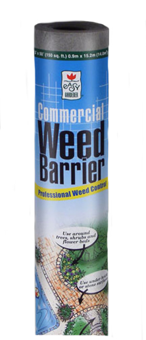 Easy Gardener Commercial Weed Barrier Fabric Professional Control Grey 12ea/4Ftx50 ft