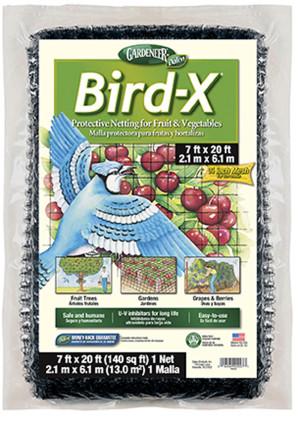 Dalen Gardeneer Bird-X Protective Netting Black 12ea/7Ftx20 ft