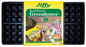 Jiffy Seed Starter Greenhouse 72 Cells with Superthrive Labels Black 14ea