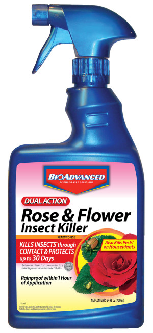 BioAdvanced Dual Action Rose & Flower Insect Killer Ready To Use 12ea/24 oz
