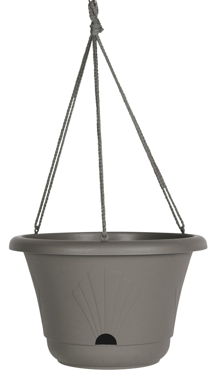 Bloem Lucca Hanging Basket Planter Charcoal 10ea/13 in