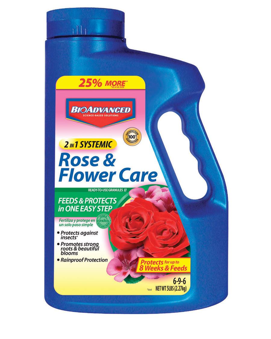 BioAdvanced 2-in-1 Rose & Flower Care Granules 6-9-6 Imidacloprid 6ea/5 lb