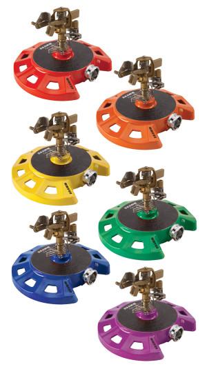 Dramm Colorstorm Impulse Sprinkler Circular Base Assorted Colors 6ea
