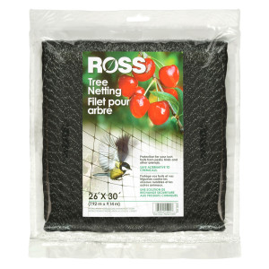 Ross Tree Netting & Bird Plant Protection Black 6ea/26Ftx30 ft