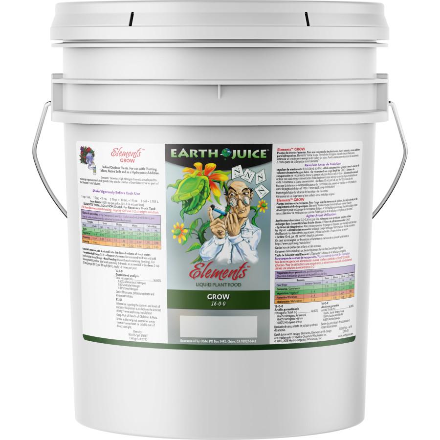 Earth Juice Elements Grow Liquid Plant Food 16-0-0 1ea/5 gal