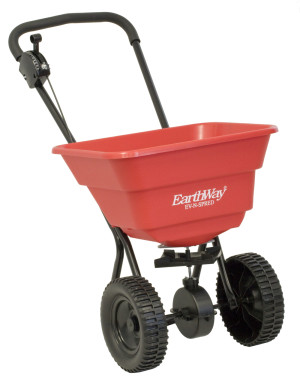 Earthway Deluxe Residential Broadcast Spreader with 80lb Capacity Red 1ea/24.5 In X 20.8 In X 18.5 in
