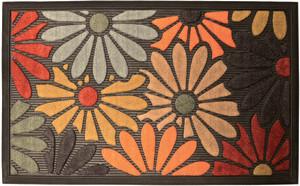 Robert Allen Artisan Door Mat Field of Flowers Black 5ea/18 In X 30 in