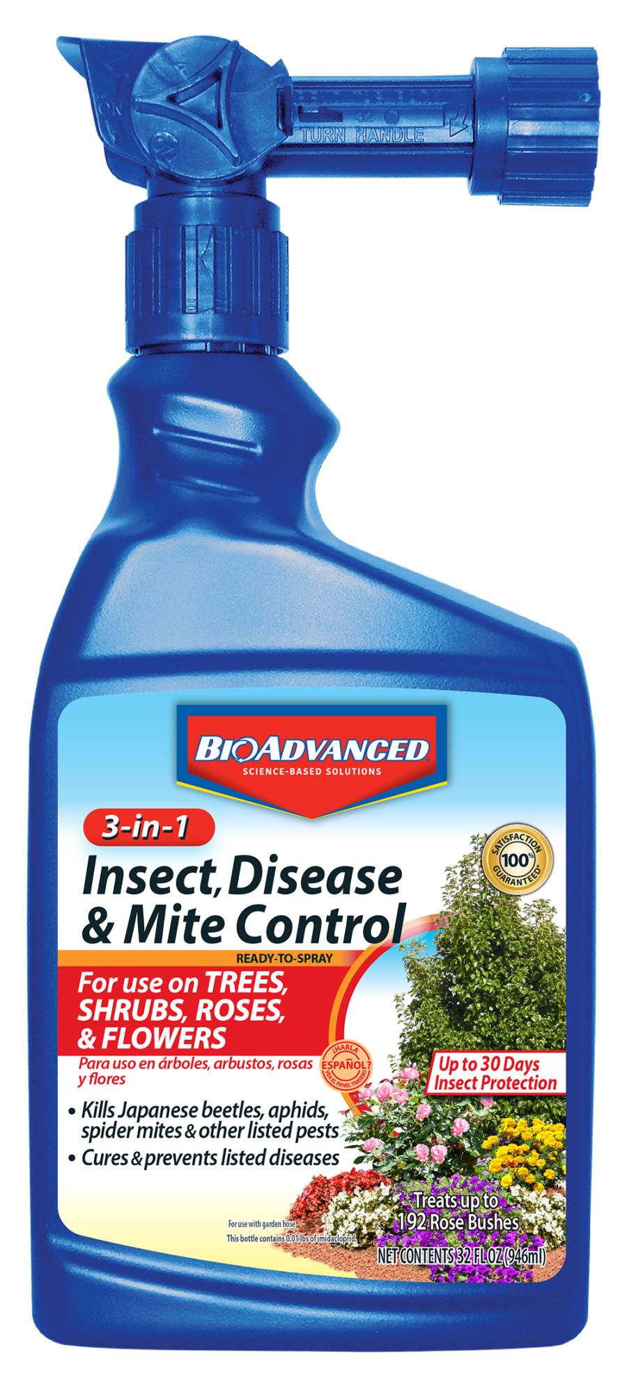 BioAdvanced 3-in-1 Insect, Disease & Mite Control 8ea/32 fl oz