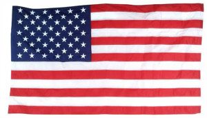 Flag Zone Nylon United States Flag in Poly Bag 6ea/2-1/2Ftx4 ft