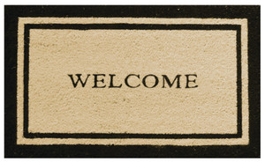 Robert Allen Border Welcome Mat Black, Yellow 5ea/18 In X 30 in