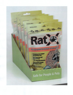 RatX Rat Control Bag with Display Tray Green 6ea/8 oz