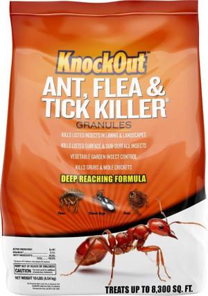 Knockout Ant, Flea & Tick Killer Granules 55ea/10 lb