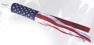 Flag Zone Patriotic Windsock 12ea/5Inx36 in