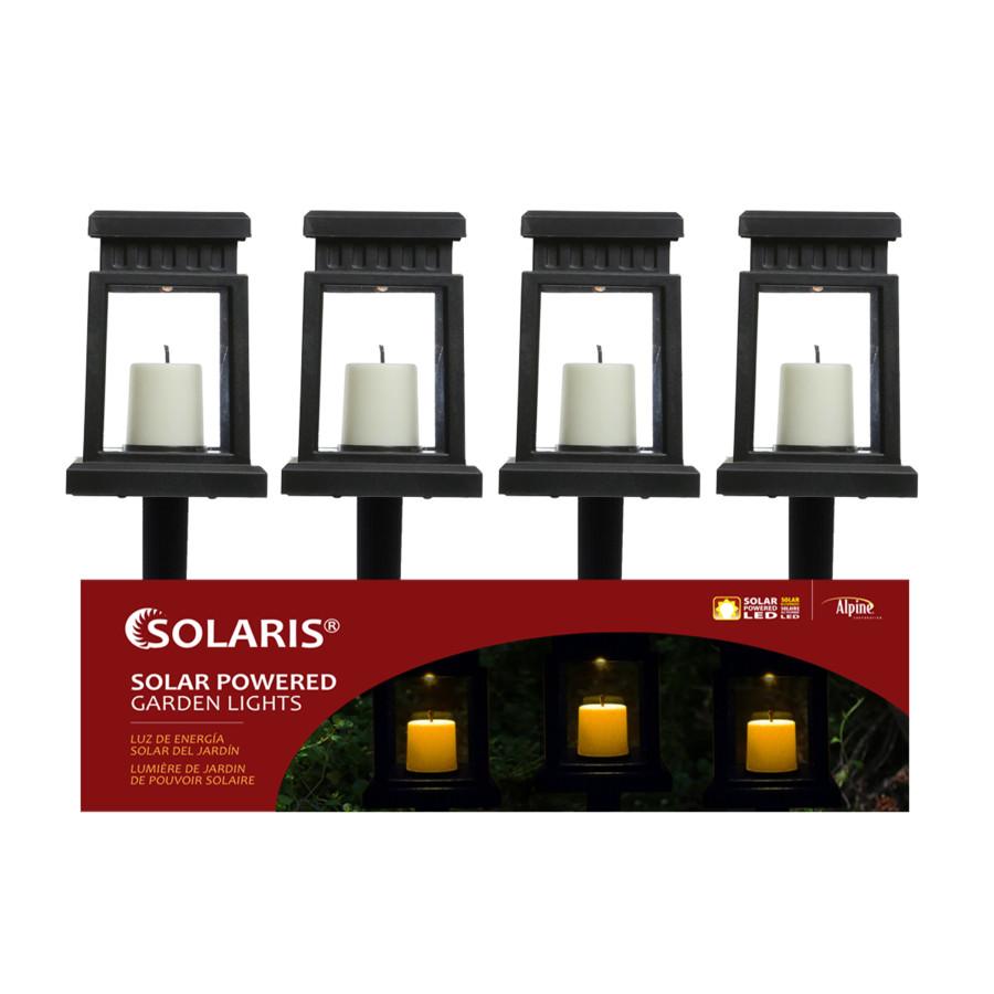 Alpine Solar Pathway Garden Stake Hanging Lantern Black 16ea/One Size