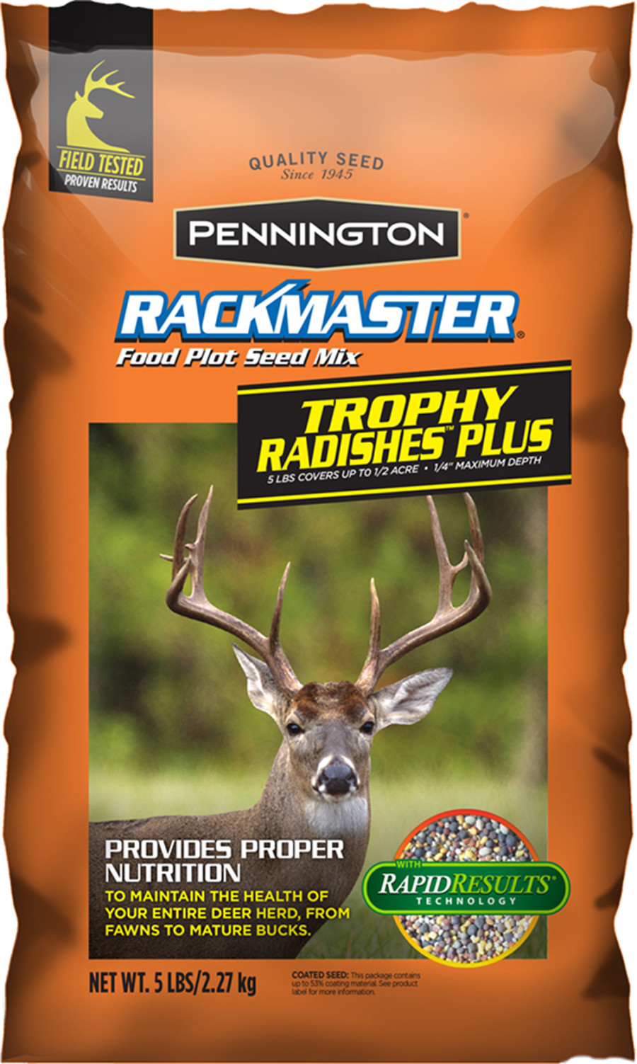 Pennington Rackmaster Trophy Radishes Plus Food Plot Seed Mix 6ea/5 lb
