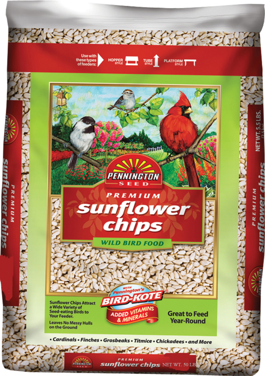Pennington Premium Sunflower Chips Bird Food 1ea/50 lb