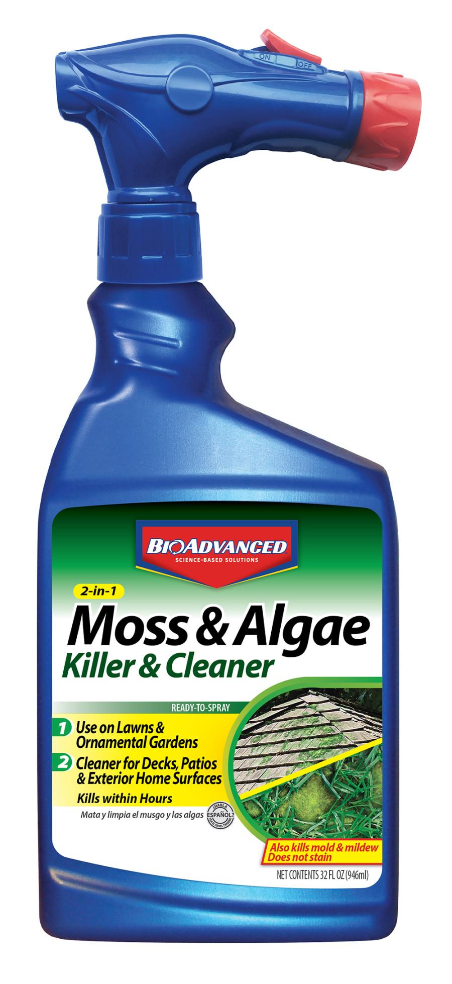 BioAdvanced 2-in-1 Moss & Algae Killer Ready to Spray 8ea/32 oz