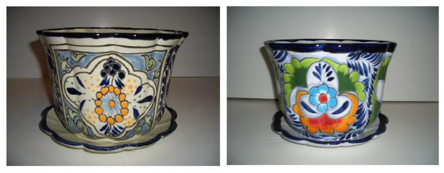 Talavera Pot with Saucer