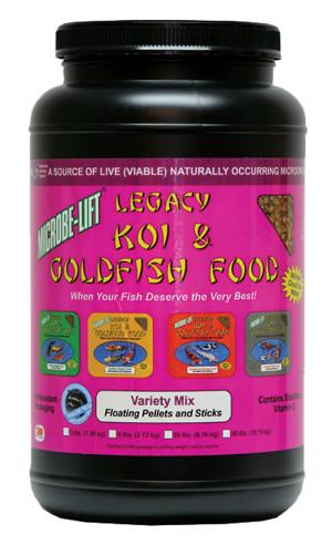 Ecological Laboratories Legacy Koi & Goldfish Food Variety Mix 6ea/36 oz