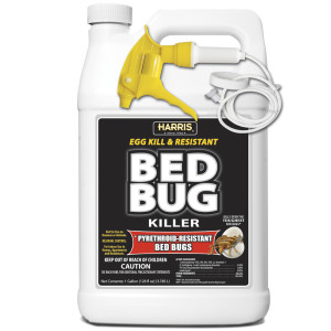 Harris Bed Bug Killer Egg Kill and Pyrethroid-Resistant Ready To Use 4ea/1 gal