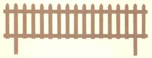 JJ Roberts Redwood Picket Fence Without Labels Redwood 6ea/12Inx6 ft