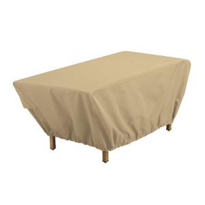 Classic Accessories Terrazzo Rectangular Patio Table Cover Sand 1ea/48 in