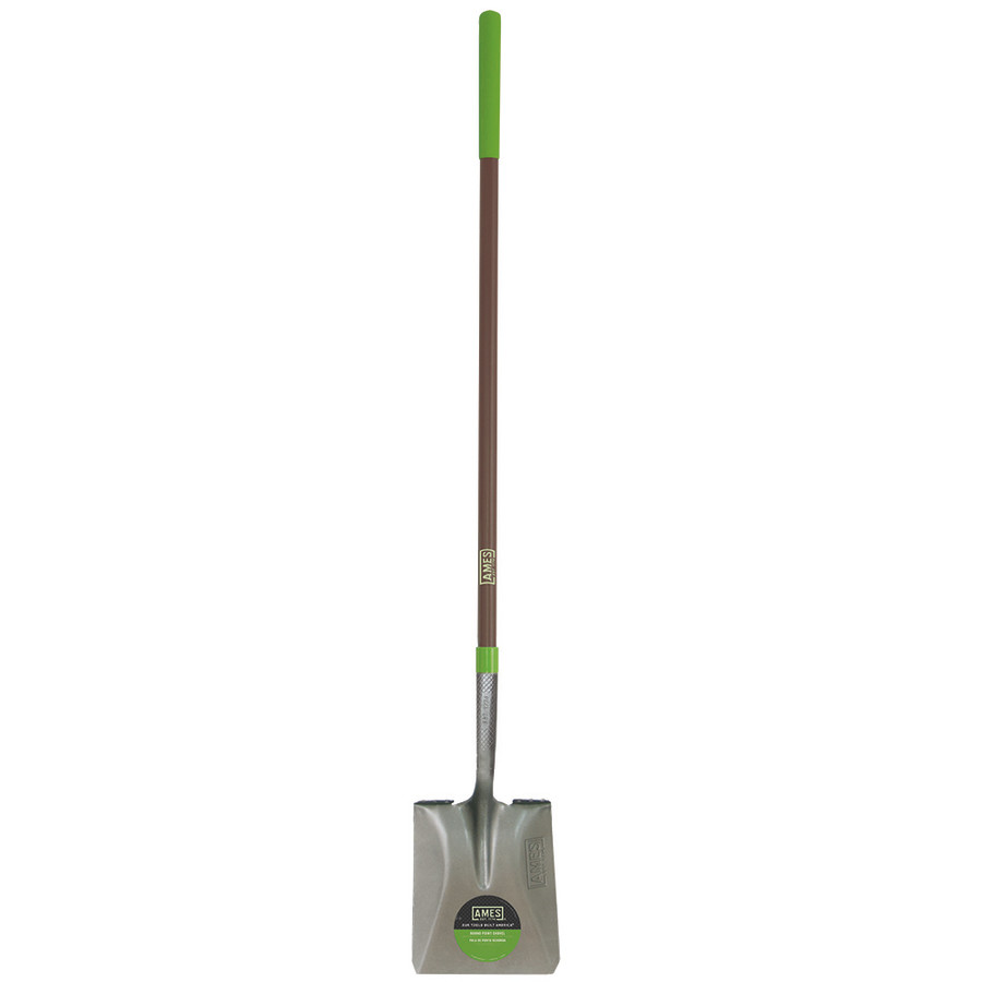 Ames Long Handle Point Shovel Handle Square Comfort Step Fiberglass Handle Brown 2ea