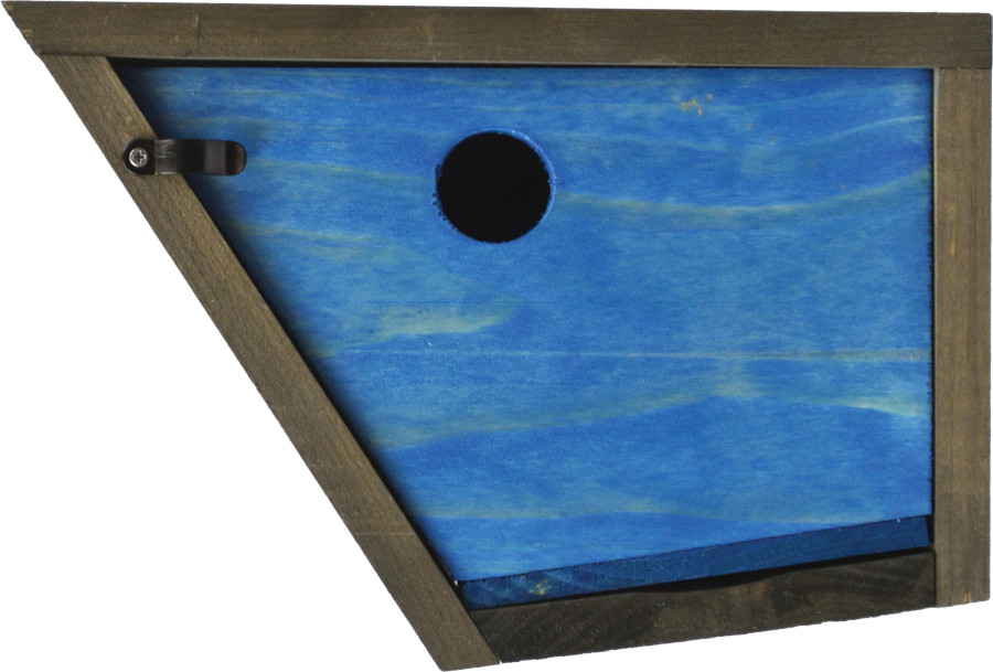 Pennington Stained Polygon Bird House Blue & Gray 2ea
