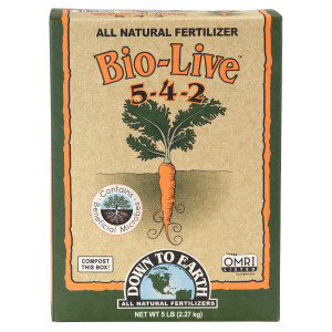 Down To Earth Bio-Live Natural Fertilizer 5-4-2 with Myco OMRI 6ea/5 lb