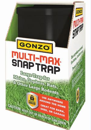 Gonzo Multi-Max Snap Trap Large for Moles, Gophers & Rats Black 1ea/Single pk