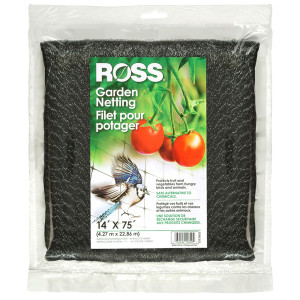 Ross Tree Netting & Bird Plant Protection Black 6ea/14Ftx75 ft