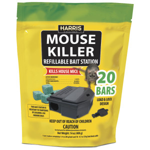 Harris Mouse Killer Refillable Bait Station 15ea/20Pk 14 oz