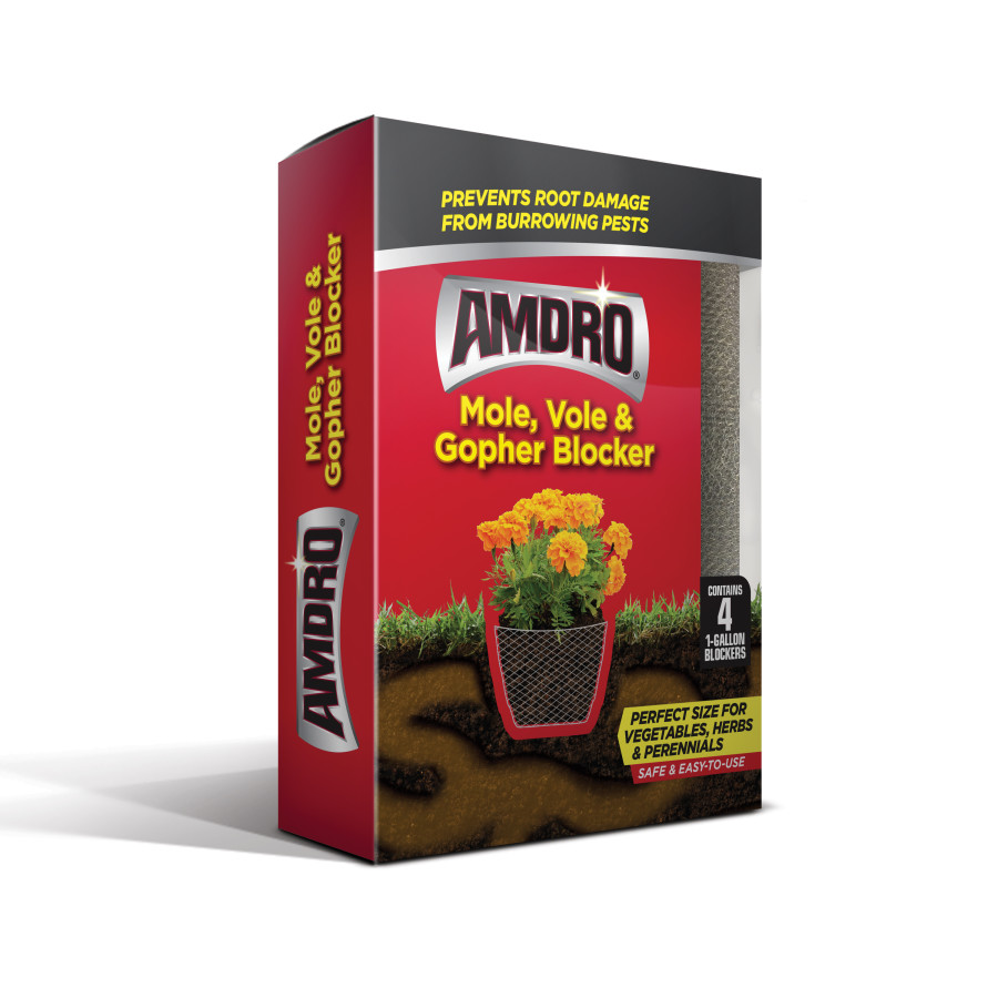 Amdro Mole, Vole & Gopher Blocker 4 Pack of 1 Gallon Blockers 12ea/4 pk
