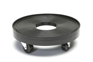 DeVault Plant Dolly with Hole Black 8ea/12 in