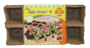 Jiffy Strips 8 Peat Strip Grows 32 Plants Brown 20ea/2.25 in