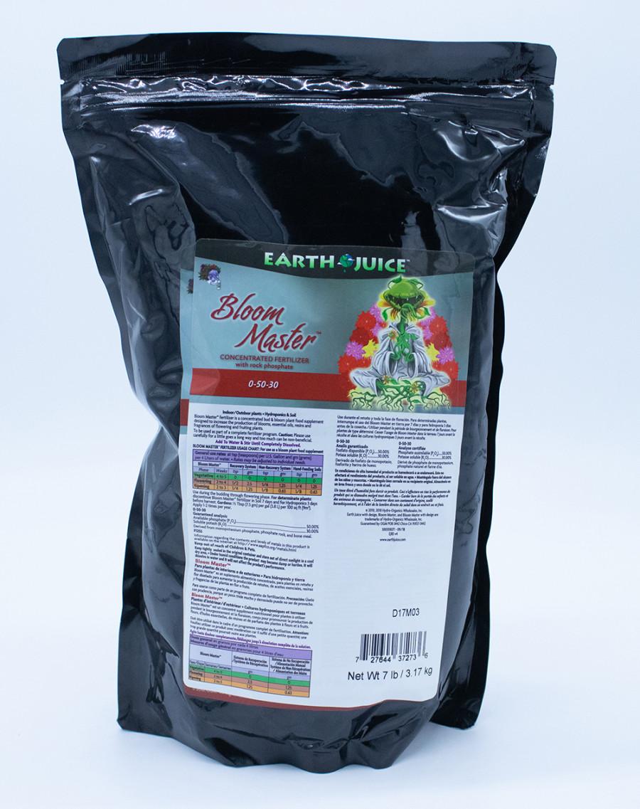 Earth Juice Bloom Master 0-50-30 Concentrated Fertilizer 9ea/7 lb