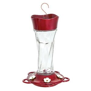 Classic Brands More Birds® Twist Hummingbird Feeder Glass Twist Glass Red 4ea/11 oz