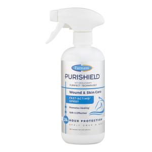 Farnam Purishield Wound & Skin Care Fast Acting Spray, Cleans and Treats Wounds on Horses, Dogs, Cats & Livestock 6ea/16 oz