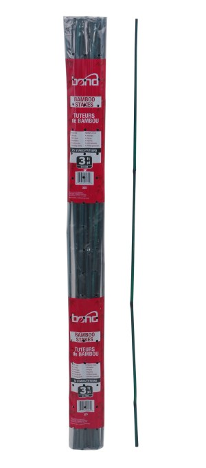 Bond Packaged Bamboo Stakes 25pk Green 25ea/1/2Inx2 ft