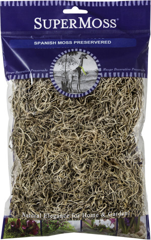 Supermoss Spanish Moss Preserved Natural 12ea/2 oz