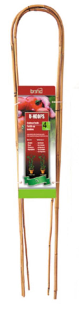 Bond Packaged Bamboo U-Hoops Trellis U Hoop Brown 15ea/4 ft