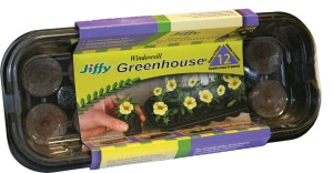 Jiffy Windowsill Greenhouse Grows 12 Plants Tray Gold 14ea