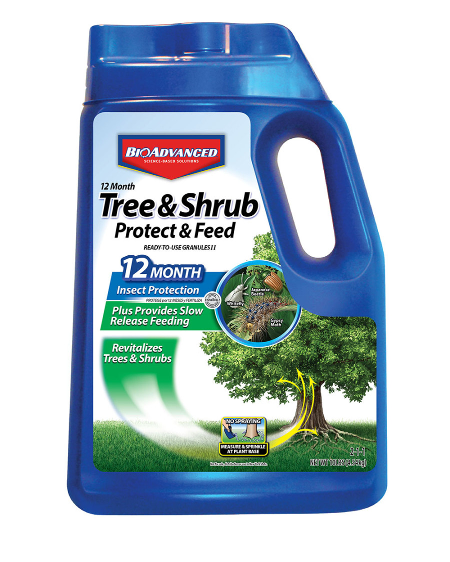 BioAdvanced 12 Month Tree & Shrub Protect & Feed Granules 2-1-1 4ea/10 lb