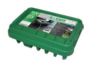 SOCKiTBOX Weatherproof Powercord Connection Box Green 10ea/Medium