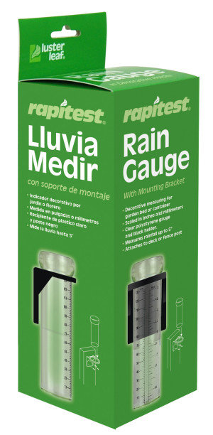 Luster Leaf Rapitest Rain Gauge with Mounting Bracket Multi-Color 6ea