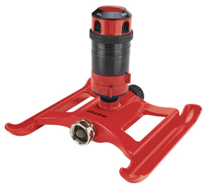 Dramm 4-Pattern Gear Sprinkler On Sled Base Red 1ea