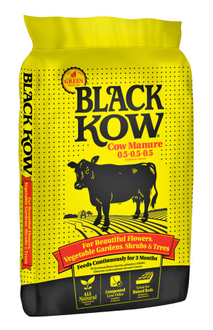 Black Kow Black Gold Composted Cow Manure .5-.5-.5 Natural 1ea/50 lb