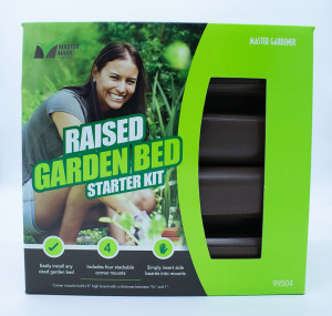 Master Mark Raised Garden Bed Starter Kit Brown 4ea