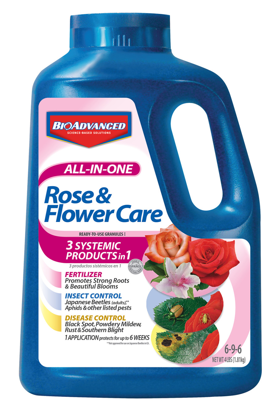 BioAdvanced All-In-One Rose & Flower Care Granules 6-9-6 Acephate 6ea/4 lb